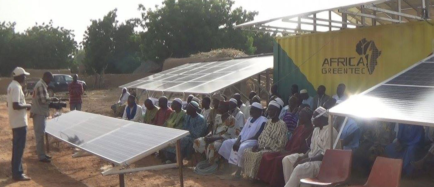Inauguration of Africa GreenTec's first solar power plant