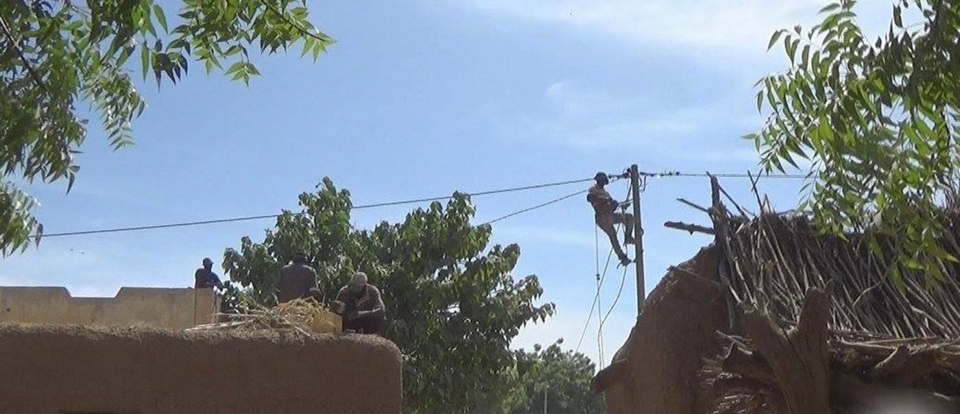 Netzbau in Mourdiah