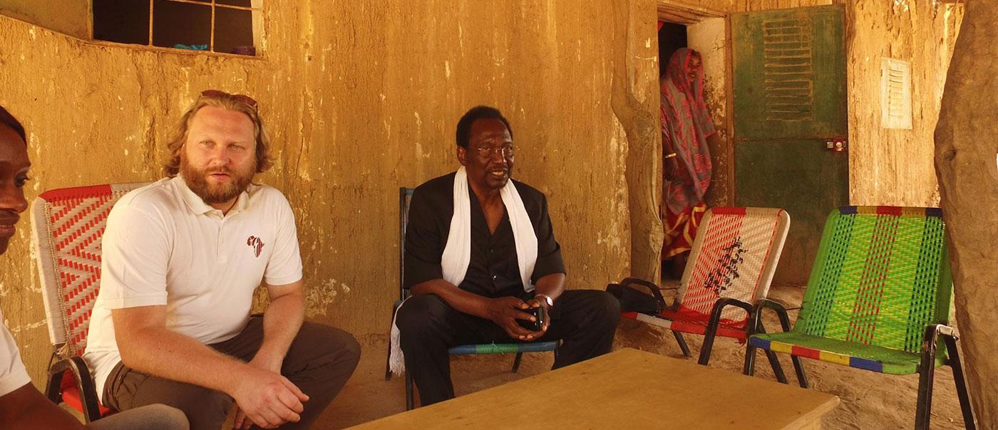 Torsten Schreiber avec le président Diankounda Traoré